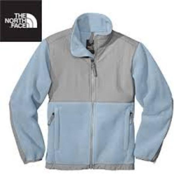 790c112d0 North Face Denali Baby Blue Fleece Jacket ⭐️ RARE